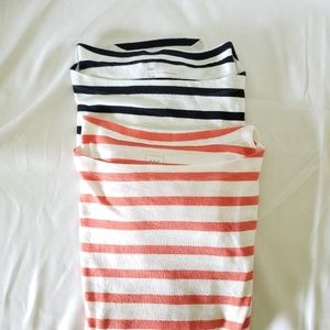 Two Soft and comfortable Striped Gap Shirts